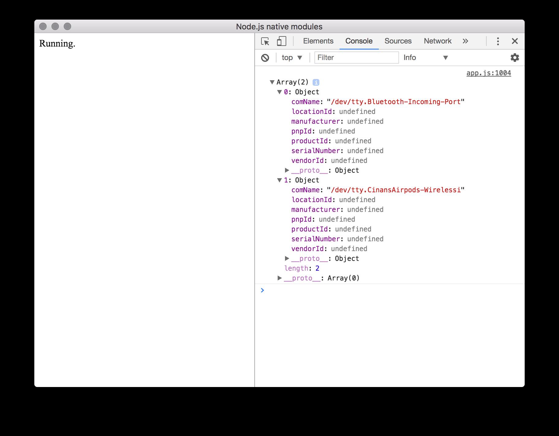 Integrate native Node js modules into an Electron app (1/2
